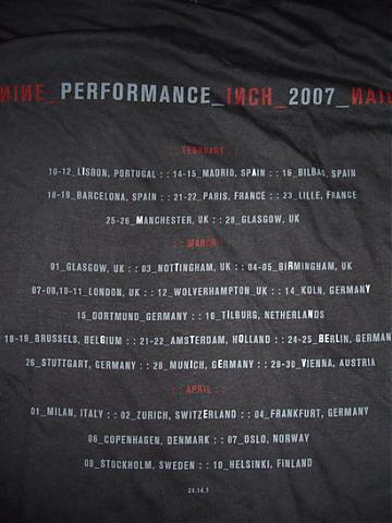 Nine Inch Nails tour shirt